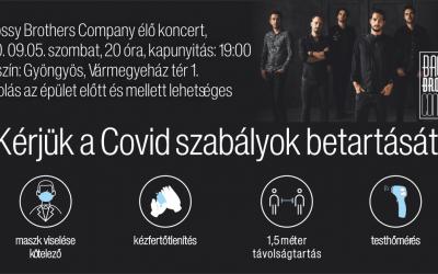 Bagossy Brothers Company élő koncert szombaton!