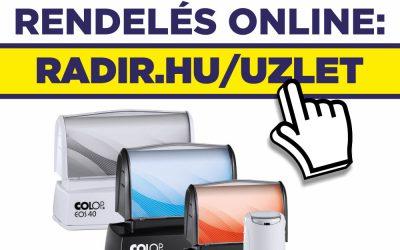 Bélyegzőt, végre online is rendelhet a Radírnál!